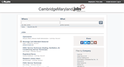 Preview of cambridgemaryland.jobs